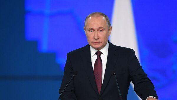 Vladímir Putin ofrece su mensaje anual ante la Asamblea Federal - Sputnik Mundo