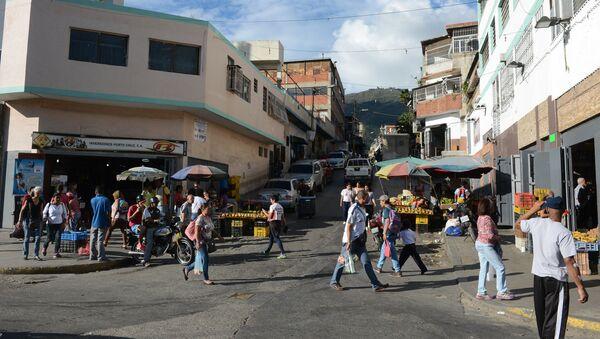 Una calle de un barrio popular de Caracas - Sputnik Mundo