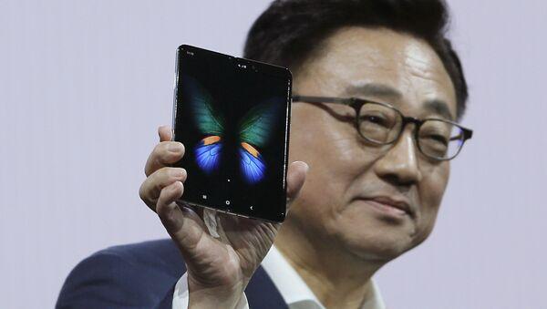 Presentación del Galaxy Fold, teléfono plegable de Samsung - Sputnik Mundo