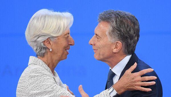 Christine Lagarde, directora gerente del FMI; y Mauricio Macri, presidente de Argentina, durante la cumbre del G20 2018 en Buenos Aires - Sputnik Mundo