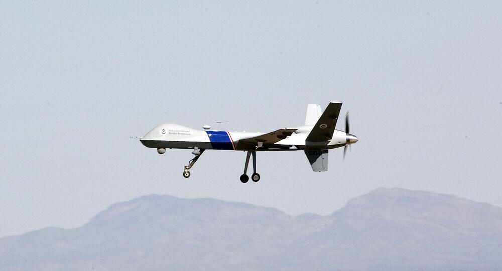 Un dron de ataque, imagen referencial