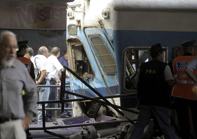 Imagen de la catástrofe de Once, en Buenos Aires, en febrero de 2012
