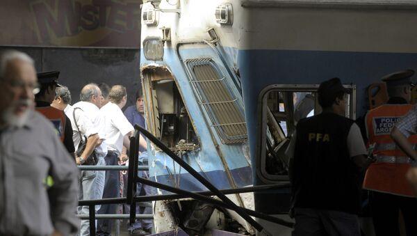Imagen de la catástrofe de Once, en Buenos Aires, en febrero de 2012 - Sputnik Mundo