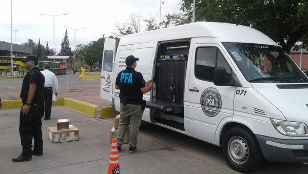 Fuerzas federales argentinas confiscan dinero y medicamentos en la terminal de autobuses de Guaymallén - Sputnik Mundo