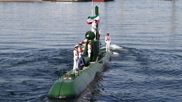 Submarino iraní de la clase Ghadir (archivo) - Sputnik Mundo