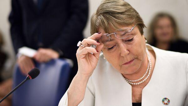 Michelle Bachelet, alta comisionada de DDHH de la ONU (archivo) - Sputnik Mundo