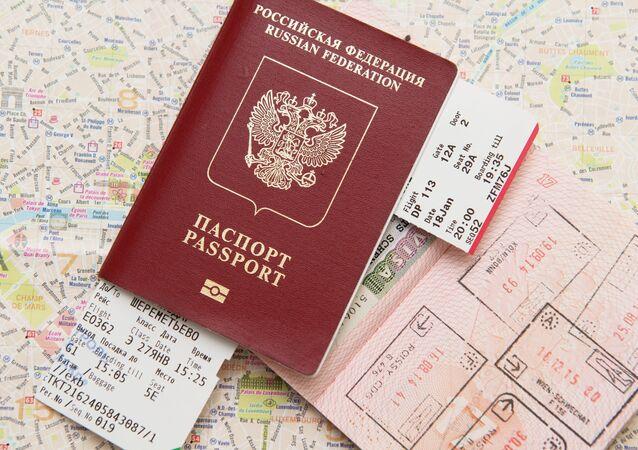 Un pasaporte extranjero de Rusia