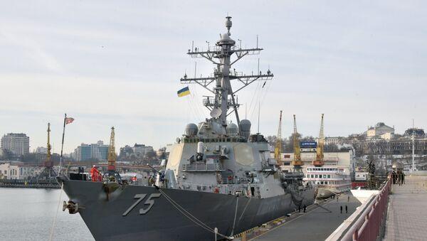 El destructor estadounidense USS Donald Cook en Odesa - Sputnik Mundo