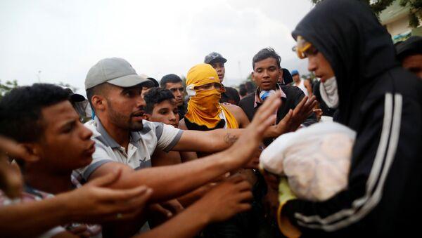 Opositores venezolanos en Cúcuta, Colombia - Sputnik Mundo