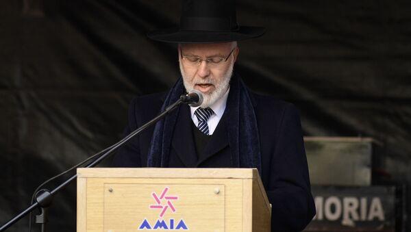 El gran rabino Gabriel Davidovich (archivo) - Sputnik Mundo