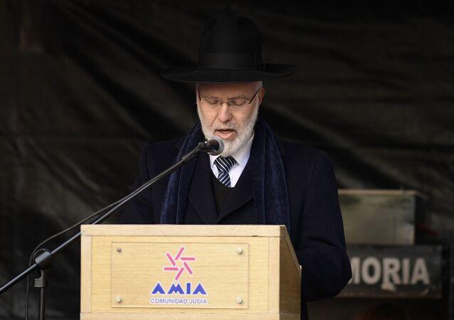 El gran rabino Gabriel Davidovich (archivo)