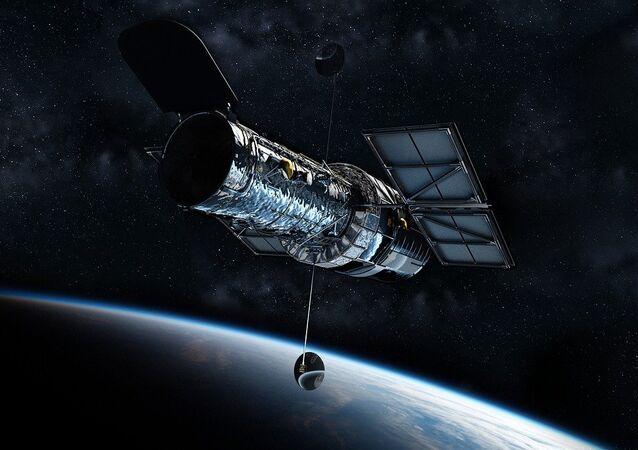 El telescopio Hubble, referencial