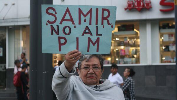 Marcha en Ciudad de México por Samir Flores, activista contra el Proyecto Integral Morelos asesinado a mediados de febrero. - Sputnik Mundo