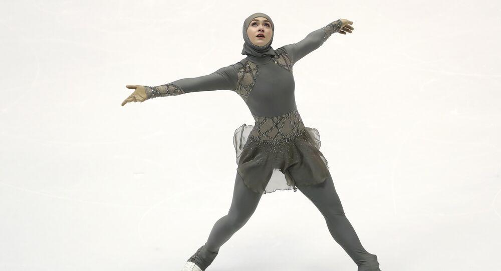 Zahra Lari, patinadora de Emiratos Árabes Unidos