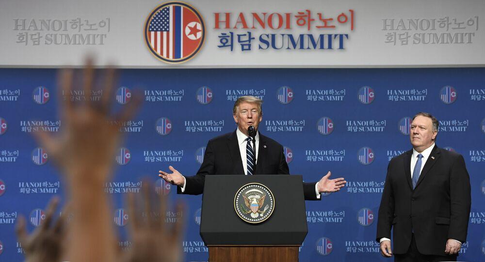 La rueda de prensa del presidente de EEUU Donald Trump tras el encuentro con el líder norcoreano Kim Jong-un