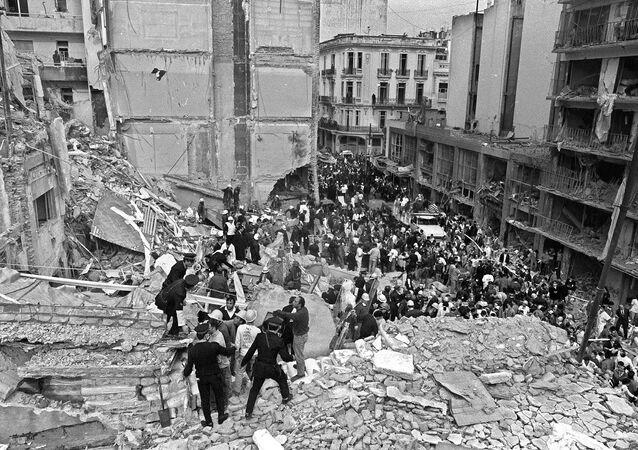 Operaciones de rescate tras el atentado a la AMIA en 1994