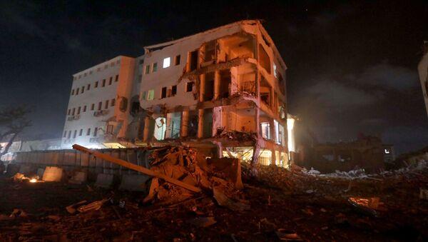 El lugar del atentado en la capital de Somalia, Mogadiscio - Sputnik Mundo
