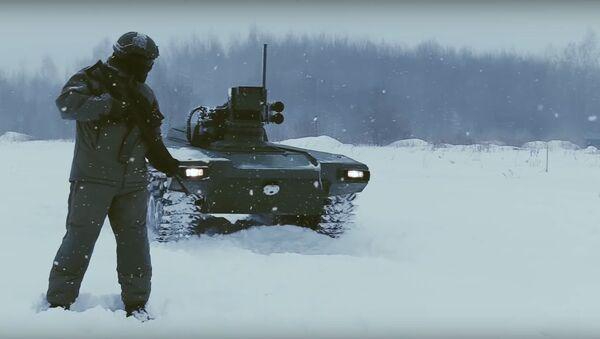 Robot blindado ruso Marker - Sputnik Mundo