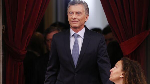Mauricio Macri, presidente de Argentina durante la apertura del 137 período de sesiones ordinarias del Congreso - Sputnik Mundo