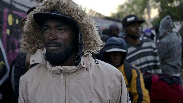 Inmigrantes haitianos en Chile - Sputnik Mundo