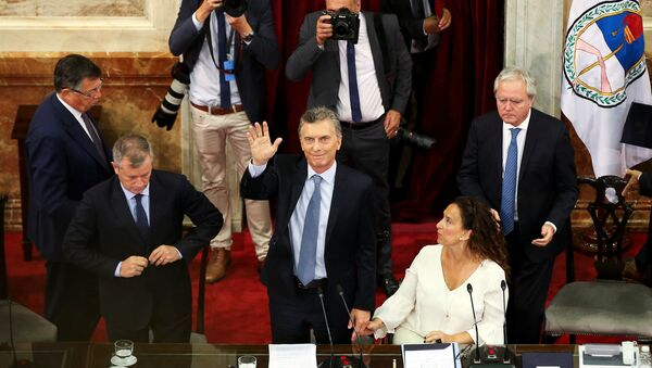 Mauricio Macri, presidente de Argentina, durante la apertura del 137 período de sesiones ordinarias del Congreso - Sputnik Mundo
