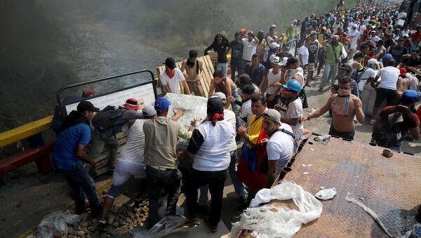 Enfrentamientos en la frontera entre Colombia y Venezuela, Cúcuta (archivo) - Sputnik Mundo