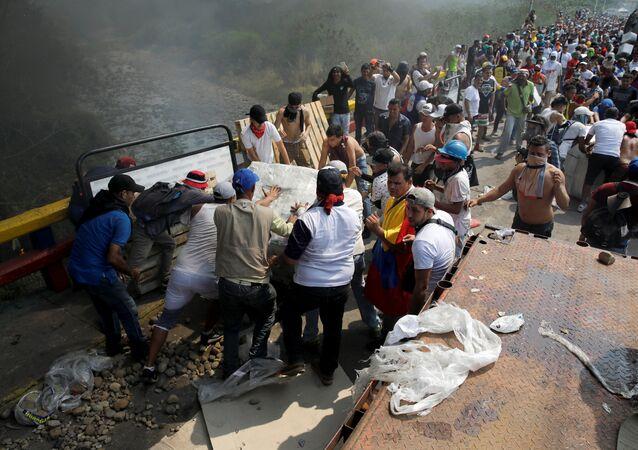 Enfrentamientos en la frontera entre Colombia y Venezuela, Cúcuta (archivo)
