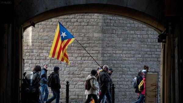 Los independentista en Barcelona (archivo) - Sputnik Mundo