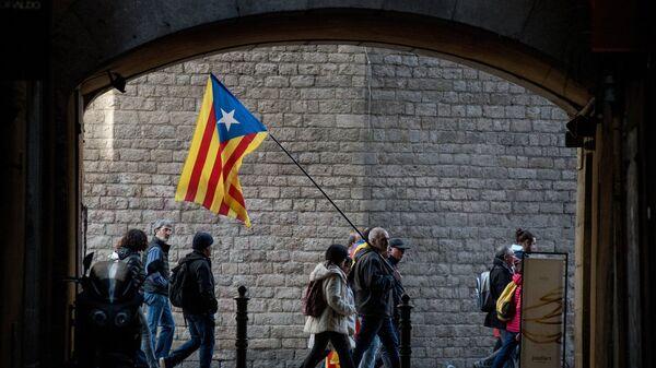 Manifestación independentista en Barcelona - Sputnik Mundo