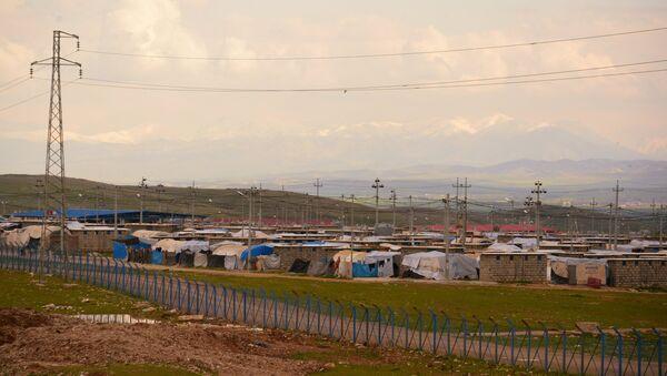 Campo de refugiados sirios - Sputnik Mundo