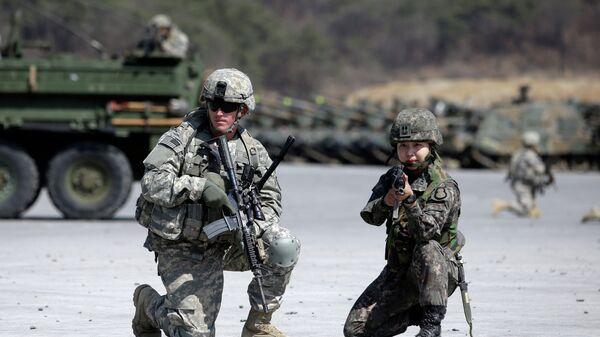 Ejercicios militares conjuntos de EEUU y Corea del Sur Foal Eagle (archivo) - Sputnik Mundo
