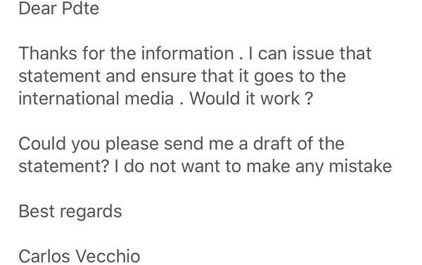 La carta de Carlos Vecchio a los bromistas - Sputnik Mundo