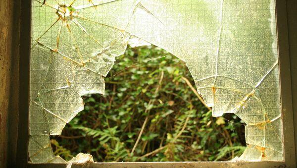 Una puerta de cristal reventada - Sputnik Mundo