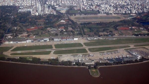 Vista aérea del Aeroparque Jorge Newbery - Sputnik Mundo