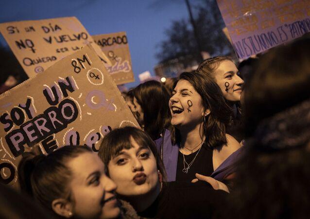 La marcha de las mujeres en Madrid (archivo)