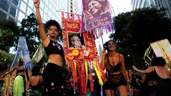 La marcha de las mujeres en Río de Janeiro - Sputnik Mundo