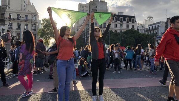 La marcha de las mujeres en Argentina - Sputnik Mundo