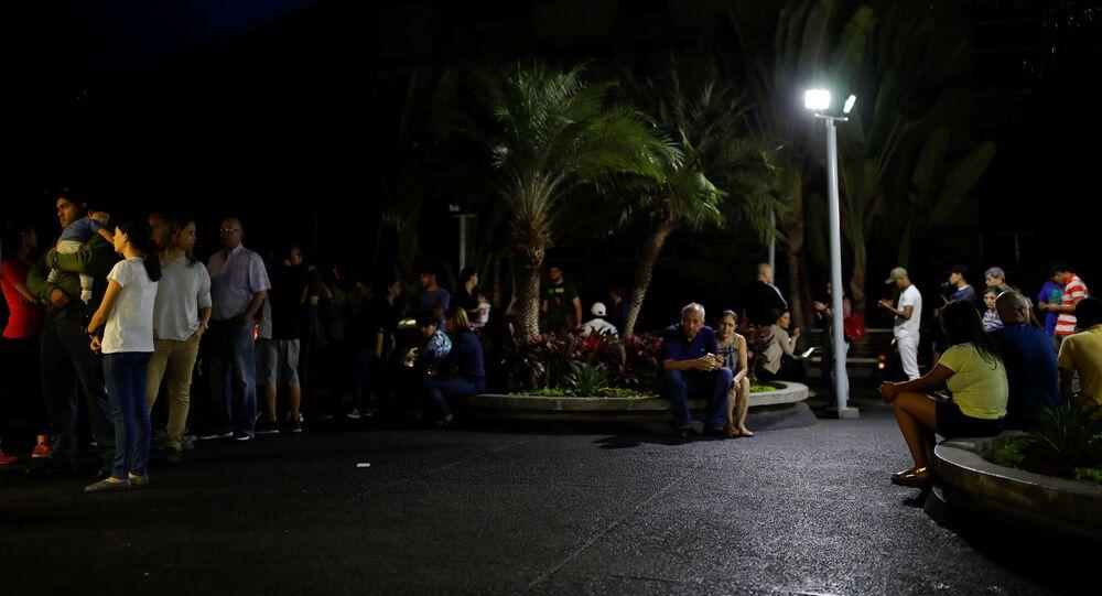 El apagón en Caracas