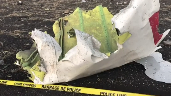 Las imágenes del lugar de la tragedia con el Boeing 737 de Ethiopian Airlines - Sputnik Mundo