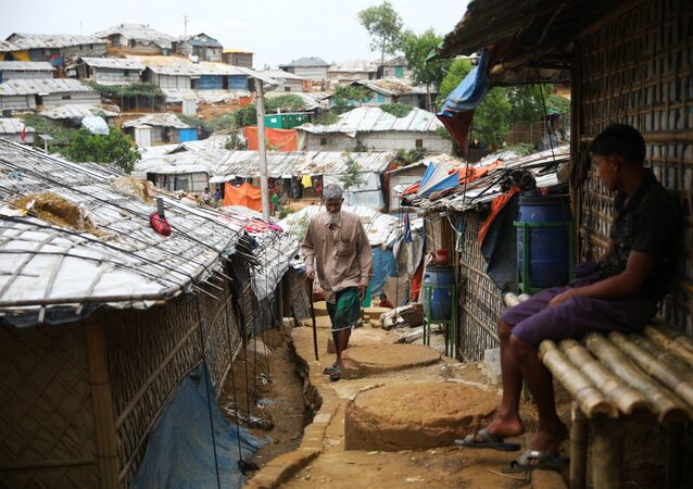 Campo de refugiados rohinyás en Banglades