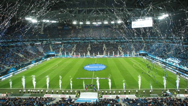 El estadio Gazprom Arena en la ciudad rusa de San Petersburgo - Sputnik Mundo