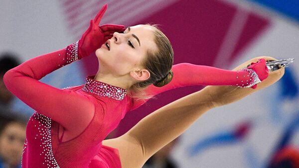 Una patinadora de Letonia en la Universiada 2019 en Rusia - Sputnik Mundo