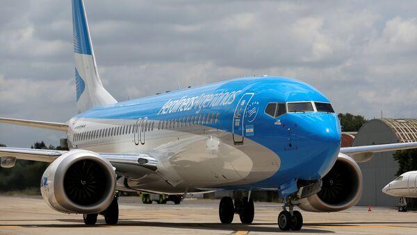 Un Boeing 737 MAX 8 de Aerolíneas Argentinas - Sputnik Mundo