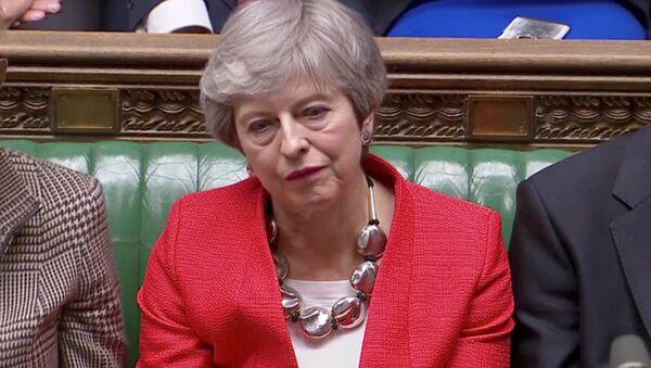 Theresa May, primera ministra de Reino Unido - Sputnik Mundo