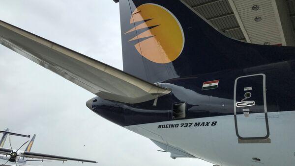 Un Boeing 737 MAX 8 de la aerolínea india Jet Airways (archivo) - Sputnik Mundo
