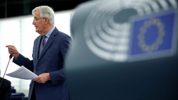 El negociador jefe de la UE para el Brexit, Michel Barnier, en el Parlamento Europeo - Sputnik Mundo