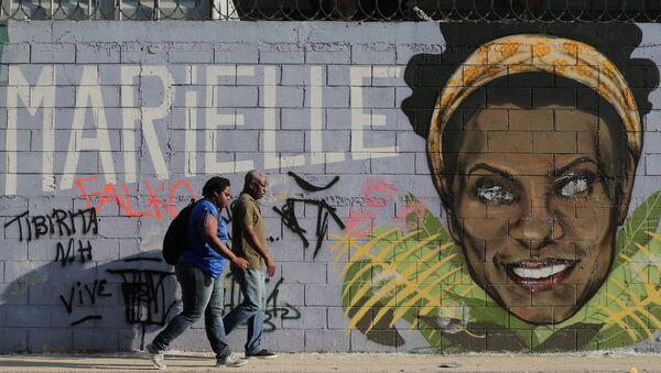 Mural de Marielle Franco en Rio de Janeiro - Sputnik Mundo