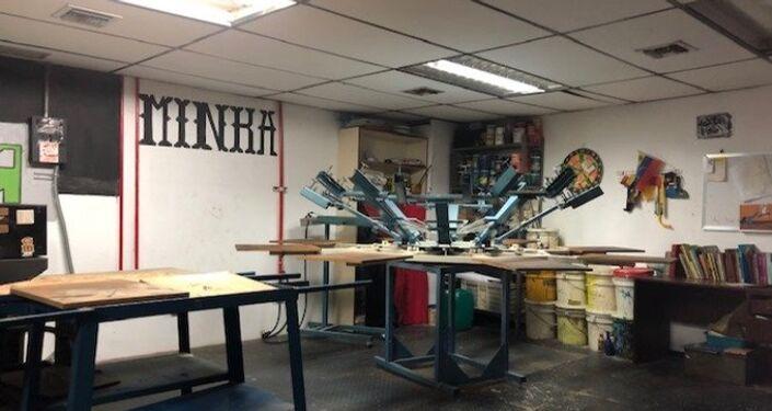 En la Minka, hay talleres para que la juventud pueda realizarse a sí misma en comunidad