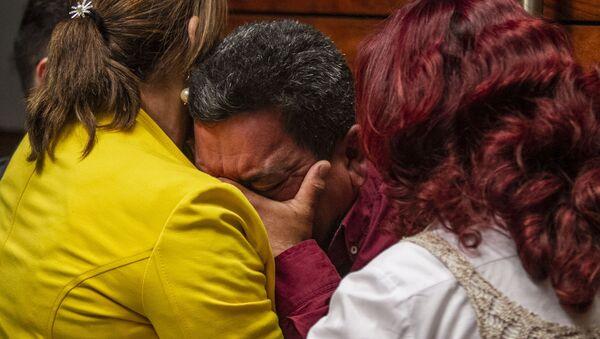 José Benítez durante la disculpa pública por la desaparición forzada de cinco jóvenes en Tierra Blanca, Veracruz, en 2016. - Sputnik Mundo