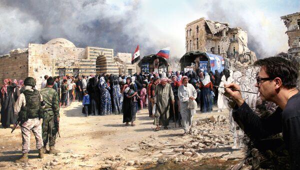 Augusto Ferrer-Dalmau, el pintor español que plasma la guerra en Siria en su cuadro - Sputnik Mundo